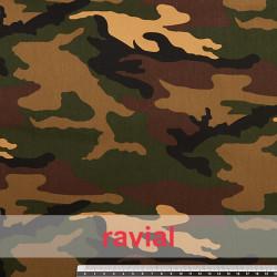 FANTASIA MILITAR RAMBO. Tissu 100% coton. Imprimé militaire.