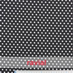 HARU. Cotton fabric polka dot print (1,60 cm).