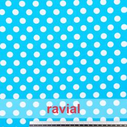 HARU. Tissu en coton imprimé à pois fins de 1,30 cm.