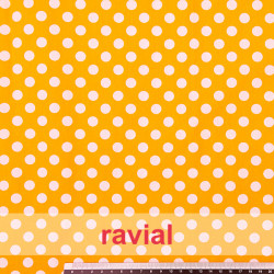 HARU. Printed cotton fabric with polka dot print 1cm.