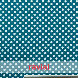 HARU. Printed cotton fabric with polka dot print.