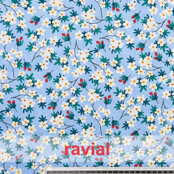 HARU. Printed cotton fabric with floral print.