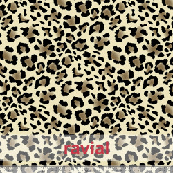 TRITEX LEOPARDO. Waterproof and bactericidal fabric - for mask. Repels water and act as barrier for bacteria. 60º in 50 washes.