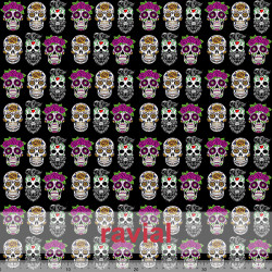 MASCARADA. Poplin fabric with skull print: height 4,40cm. and width 3,50cm. For sanitary material.