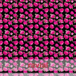 MASCARADA. Tejido de popelin con estampado de flores.