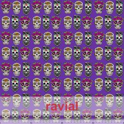 D-STRECH ESTP. Polyester fabric. Skull print.