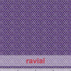 NERA. Tejido de terciopelo estampado anillas entrelazadas con algo de elasticidad.