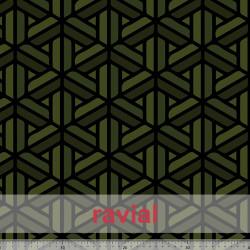 HM-ALUGA. Tejido de piel de melocotón estampado geometrico.
