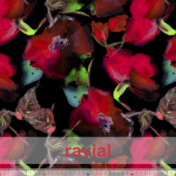 OLALLA. Drape fabric with floral pattern.