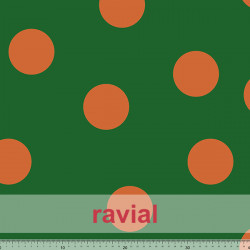 OLALLA. Drape fabric with polka dot pattern of 7 cm.