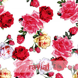 D-TABLAO ESTP. Special knit fabric for rehearsal skirts. Floral print.
