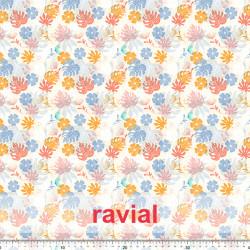 ECO-BAIKAL. Tissu en polyester recyclé imprimé.