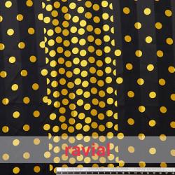 BERROCAL. Chiffon and satin fabric with 1,00 cm. polka dots print.