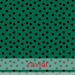 D-STRECH ESTP. Polyester fabric. Small polka dot print of 1.30 cm.