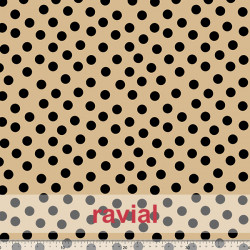 D-STRECH ESTP. Strech fabric with polka dot print (1,50 cm).