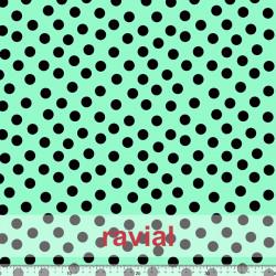 D-STRECH ESTP. Strech fabric with polka dot print (1,50 cm).