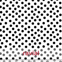 D-STRECH ESTP. Tissu en polyester avec motif à pois fins de 1,50 cm.