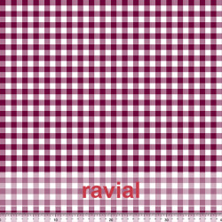 GUAJIRA. Soft techno-peach bi-elastic fabric. Check print 1,00 cm.