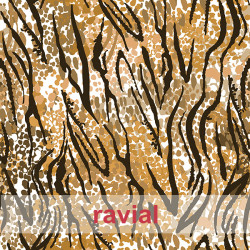GUAJIRA. Soft techno-peach bi-elastic fabric, tiger print.