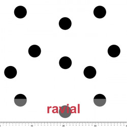 GUAJIRA. Soft techno-peach bi-elastic fabric with scattered polka dot print (4 cm).