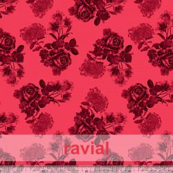 TOLOX. Drape crepe fabric. Floral print.