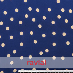 CONQUISTA. Thin chiffon fabric with 1,3 cm. polka dots pattern.