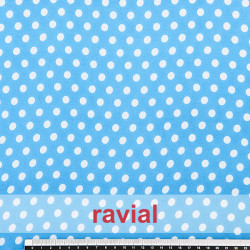 CONQUISTA. Thin chiffon fabric with 8 mm. polka dots pattern.
