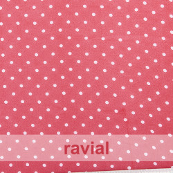 CONQUISTA. Thin chiffon fabric with 5 mm. polka dots pattern.