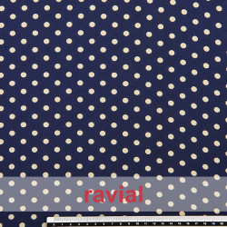 CONQUISTA. Thin chiffon fabric with 6 mm. polka dots pattern.