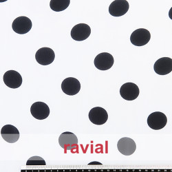 CONQUISTA. Thin chiffon fabric with 3 cm. polka dots pattern.