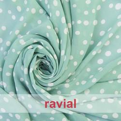 CONQUISTA. Thin chiffon fabric with irregular polka dots pattern.