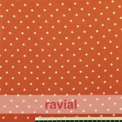 CONQUISTA. Thin chiffon fabric with 4 mm. polka dots pattern.