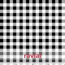 D-STRECH ESTP. Polyester fabric with 2cm checkered pattern.