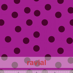 OLVERA. Knitted fabric with polka dots (3,50 cm.)