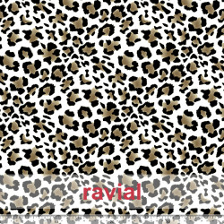 GOOFY. Soft fleece fabric. Leopard print.