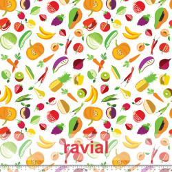 HM-MARADA. Polyester fabric with fruit print.