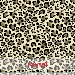 Tejido de neopreno hidrófugo, estampado leopardo. Admite más de 50 lavados a 60ºC.