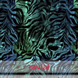 """GYMBATH. Stretch fabric """"special swimwear"""". Animal print."""