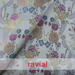 EPOCA IMAGINE. Embroidered jacquard fabric. Normally used for period dresses.