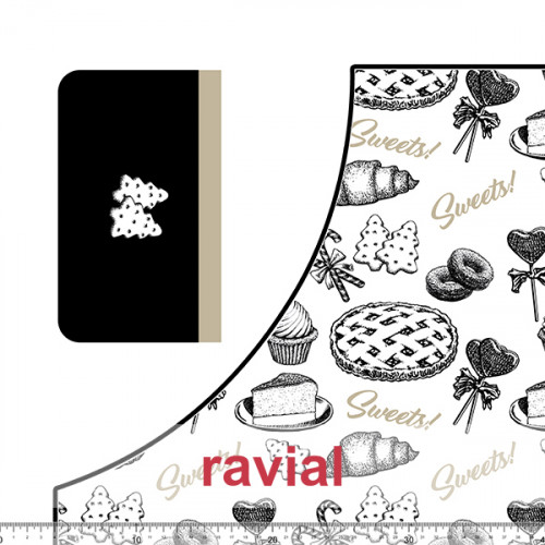 HM-MARADA. Polyester stain-resistant fabric for apron. Candy print. 2 aprons per 1m x 1.50m.