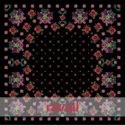 D-NATASHA. Printed crêpe fabric. Shawl print.
