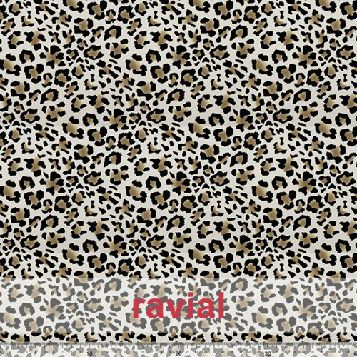 GOOFY. Soft fleece fabric. Leopard print.