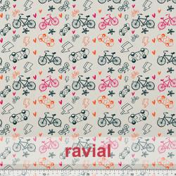 GOOFY. Soft fleece fabric. Bikes print.