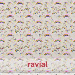 GOOFY. Soft fleece fabric. Unicorn and rainbow print.