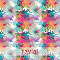 ECO-BAIKAL. Printed recycled polyester fabric.