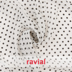 PEQUI. Thin fabric with 6mm dot print.