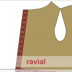 HM-PLAY ANTE. Suede fabric with Indian pattern. Pattern 1m x 1,50 m.