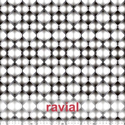 OLALLA. Very drapey fabric. Geometric print.