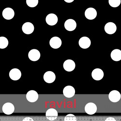 D-TABLAO ESTP. Special knitted fabric for rehearsal skirts. Polka dot pattern 4 cms.