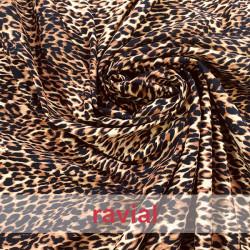 Tejido de algodón. Estampado leopardo.